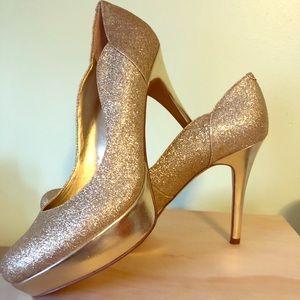 Guess gold glitter heels women's size 7.5